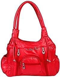 15146: Howdy Women Leather Handbags (Red)