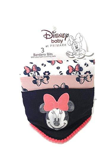 Disney Minnie Mouse Baberos Bebé Alimentación Accesorios Bandana Baberos Pack de 3...