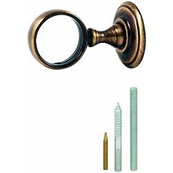 Chapuis AR1 Anneau laiton patiné verni - diamètre intérieur : 35 mm - Pour corde diamètre 32mm