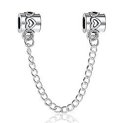 Carina Dangle Link Safety Chain Fits Pandora Bracelets