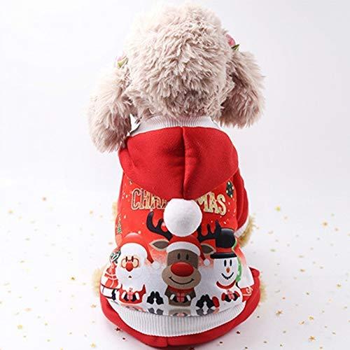BAONUAN Haustier Kleidung Weihnachten Hundebekleidung Für Kleine Hund Haustier Weihnachten Kostüme Winte Mantel Kleidung Niedlichen Welpen Outfit Für Hund Plus Größen Für Hund, XL