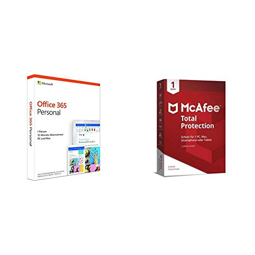 Microsoft Office 365 Personal multilingual + McAfee Total Protection 2019 1 Gerät
