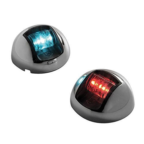 Attwood LED 1-Mile Vertical Mount Navigation Lights, Stainless Steel (Pair) by attwood (Navigation Attwood Lights)