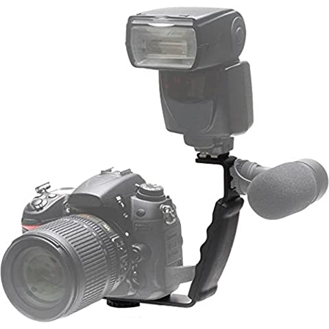 Phot-R Heavy Duty Professional L Shaped Flash Bracket Flashlight Camera