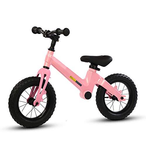 BABYZIXCH Balance Fahrrad FüR 2-6Jahre Alter Junge Und MäDchen,Laufrad Mit Verstellbarem Sitz Und GriffhöHe,Kein Pedal,Geeignet FüR HöHe 100-130Cm (Rosa)