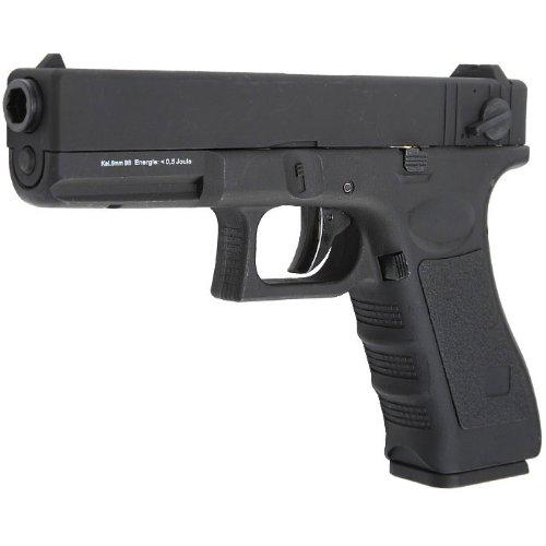 Softairpistole G18C Komplettset elektrisch 6mm BB schwarz