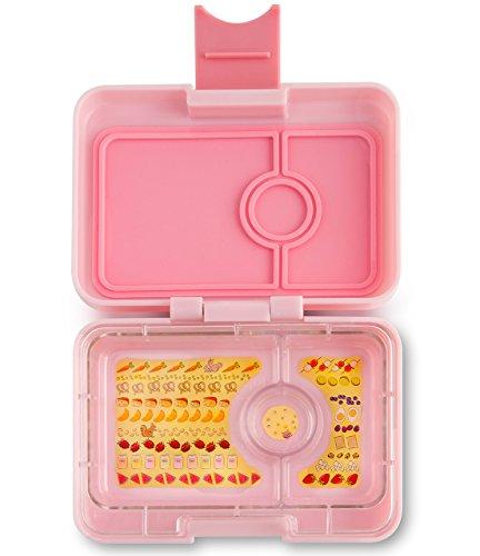 Yumbox XS Mini Snackbox (Coco Pink) - Kleine Kinder Bentobox, 3 Fächer - Brotdose mit Unterteilung für Krippe, Kita oder kleinen Snack Unterwegs