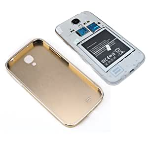 """Aluminium Coque facade arriere or champagne + Contour or champagne pour Samsung Galaxy S4 IV I9500 9505 5"""""""