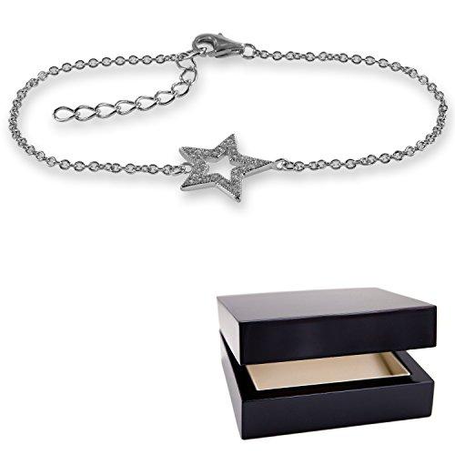 Stern Armband Stern Silber 925 Geschenk Freundin Armband  Freundschaftsarmband *GRATIS Luxusetui * Valentinstagsgeschenk Beste  Freundin Geschenk Valentinstag ...