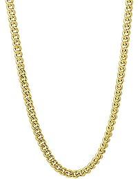2,5 mm 14 K chapado en oro collar de cadena de enlace de cebolla
