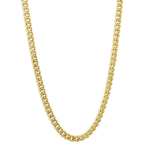 3mm Gold Plated Flat Cuban Link Curb Chain