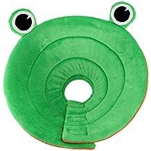 Baoblaze Collar de Cono Inflable para Heridas Perro E-cuello Ajustable - verde, L