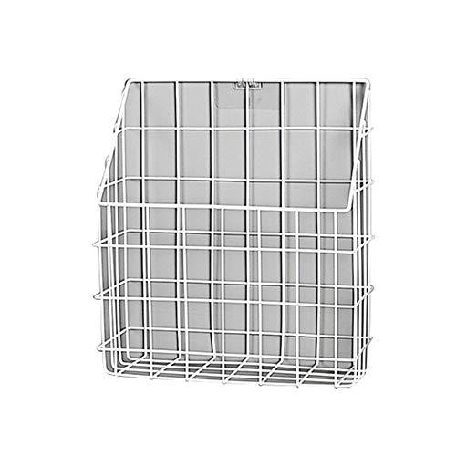 Xyanzi Spectrum Diversified Grid Aufbewahrungskorb, Punch-Free Wandhalterung Schwarz/Weiß-11.02