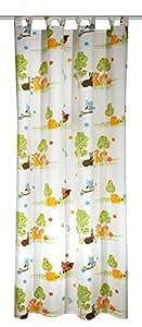 Albani 269010, double rideau tamisant prêt à poser pour chambre d'enfants, motifs animaux de la forêt, 245x135 cm (HxL)