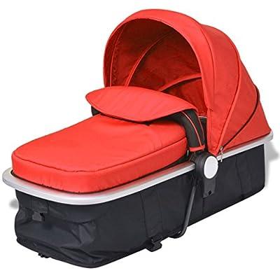 yorten 2-en-1 Carrito Cochecito/Silla de Bebé 97 x 49 x 101 cm Aluminio y Tela Oxford Rojo y Negro