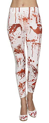 Boland 87862 Leggings Bloody, weiß/rot, One Size