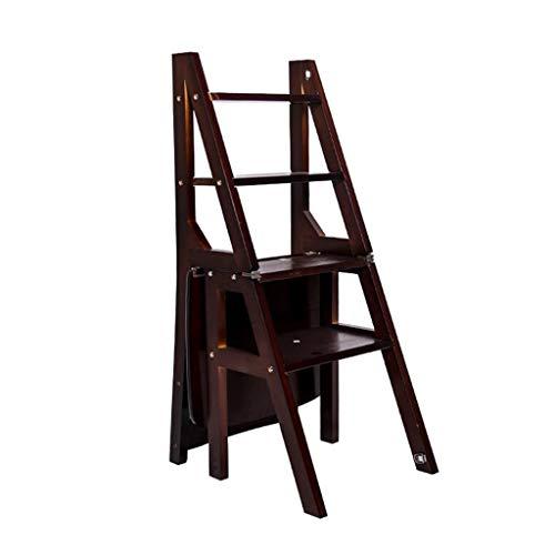 INTER FAST Massivholz Doppeltaugliche Treppe Stuhl Hocker Multifunktions Haushalt Verdickung Steigleiter Schritt vier Stufen Leiter Essecke Taburete alto