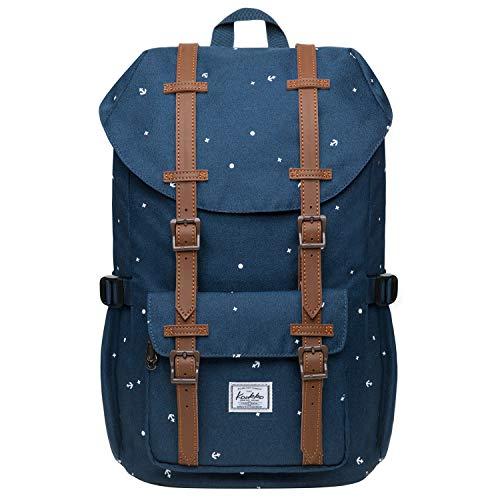 """KAUKKO Schulranzen Damen Herren Studenten 15 Zoll Backpack für 12\"""" Notebook Lässiger Daypacks, 40 * 25 * 14 cm, 14 L, Mini"""