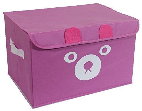 Katabird, cesto portaoggetti per giocattoli, contenitore pieghevole con coperchio, per la stanza dei giochi dei bambini, vestiti per bambini, libri per bambini, animali di peluche, cestini regalo
