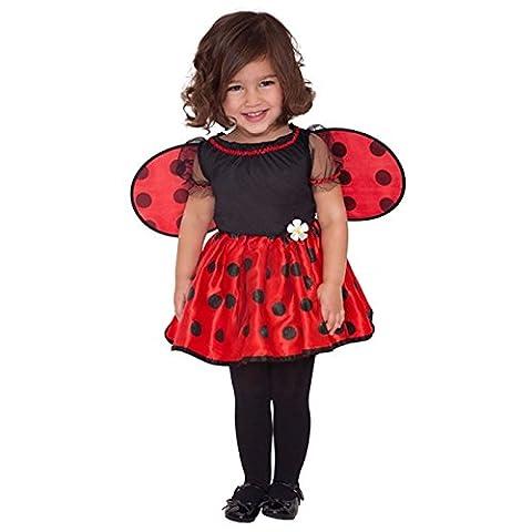 Girls Ladybird 12-24 Months Fancy Dress Costume + Wings New