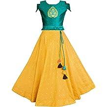 Fashion Dream Girl's Jacquard & Silk Readymade Lehenga Choli