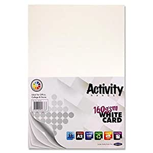 Premier Stationery A2 160 gsm Activity Card - White (Pack of 25 Sheets)