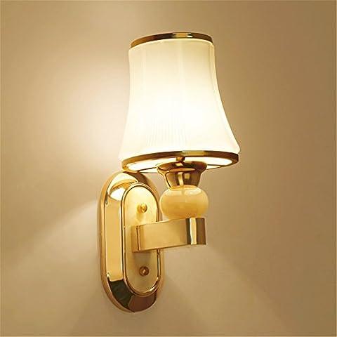 Jubaopen Wandleuchten Nachttischlampe wand Schlafzimmer minimalistischen modernen, kreativen Continental US-Stil Wohnzimmer led Treppe gang Lampen, Schokolade