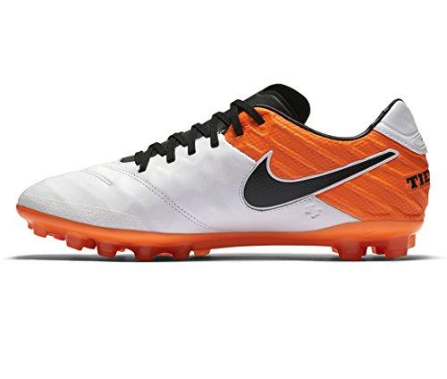 Nike Tiempo Legacy Ii Ag-r, Scarpe da Calcio Uomo 108 WHITE/BLACK-TOTAL ORANGE