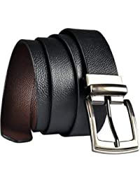 KAEZRI 100% Genuine leather Reversible Black|Brown belt for men formal and belts for boys(2 Years Money Back Guarantee) -belts for men leather original-belt for men casual-belt for men formal-belts for men casual stylish-gifts for men
