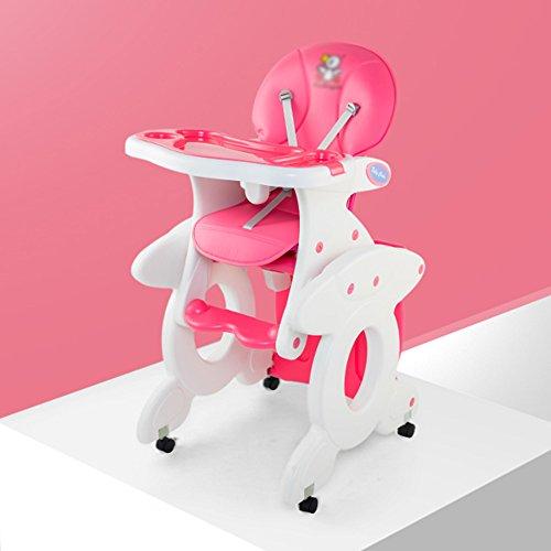 Brisk- Multifunktion Essstuhl Für Babys Modular Kinderstuhl Plastik Stuhl Essecke Sitze ( Farbe : Cherry blossom powder ) (Hochstuhl Abdeckung Sommer)