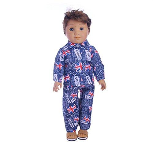 American Girl Doll Malloom® Hochwertige Kleidung & Hosen für 18 Zoll Unsere Generation American Girl Doll (D, 18 ZOLL American Girl Doll)