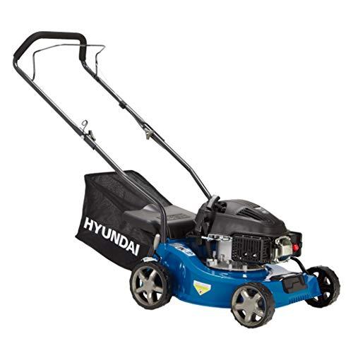 HYUNDAI Benzin-Rasenmäher LM4001G (Schnittbreite 40cm, kraftvoller HYUNDAI Motor mit 1.6kW (2.17PS), 35L Fangkorb, Benzinmäher)