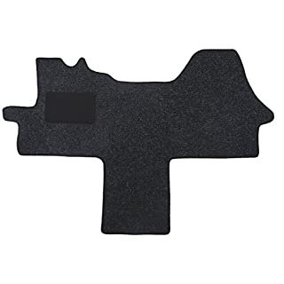 Fußmatte 1614 - Autoteppich von Alpha-Tex (1-tlg. in Qualität Robust anthrazit, Umrandung schwarz)
