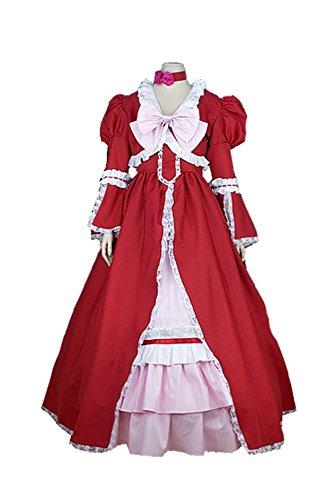Black Butler Kuroshitsuji Elizabeth Gown Cosplay Kostüm (Butler Kostüm Elizabeth Black)