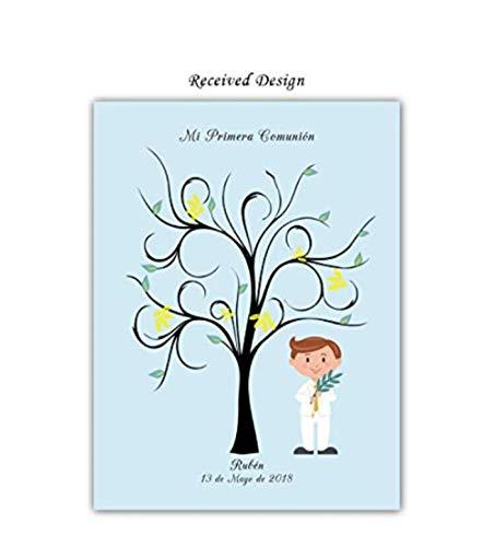 Yqgdss DIY Geburtstagsfeier Segen Baum Fingerabdruck Teilnahme Leinwand Zeichnen Anmelden DIY Dekorative Malerei Tapete Unterschrift Beste Souvenir Kinder Geschenk -