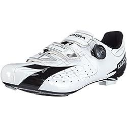 Diadora Vortex- Comp - Zapatillas de Ciclismo de Material sintético Unisex, Color Bianco (Weiß (Weiß/Schwarz 3510)), Talla 45.5 EU