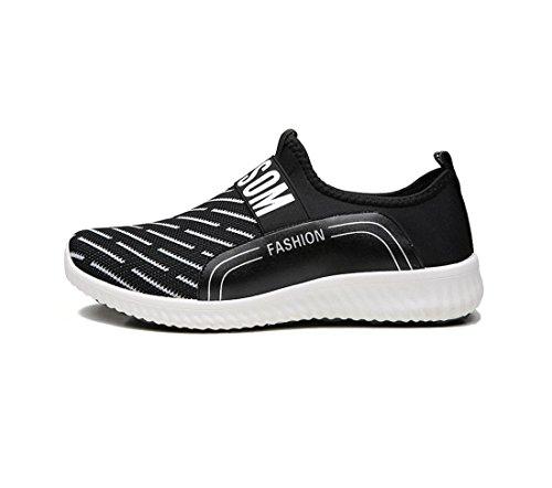 HYLM été nouvelles chaussures décontractées mode coréenne confortables chaussures respirantes Black