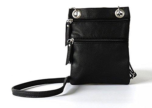 Tibes kleine Umhängetasche Crossbody Geldbörse für Frauen Schwarz (Schulter-handtasche Kleine)