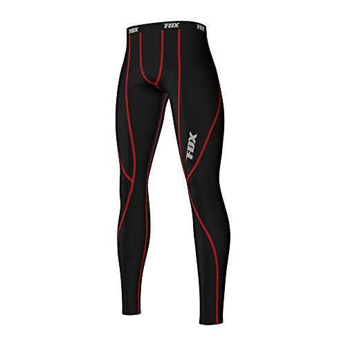 FDX Mens Athletic Compression Base Layer Long Pants Leggings Running Under Tights
