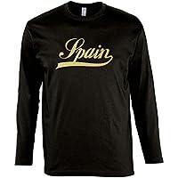 Spanien Oldschool Spain Fussball EM WM FAN - Herren Langarm Longsleeve T-Shirt S-XXL
