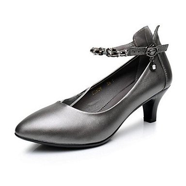 RTRY Donna Comfort Tacchi Pu Estate Casual Grigio Nero 1A-1 3/4In US8.5 / EU39 / UK6.5 / CN40