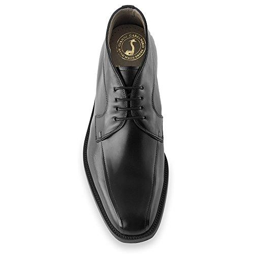 Masaltos - Chaussures rehaussantes pour homme. Jusqu'à 7 cm plus grand! Modèle Giorgio Noir