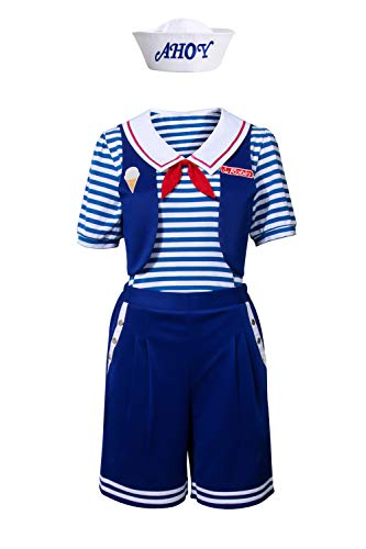 NUWIND Robin Scoops Ahoy Kostüm Halloween Cosplay Matrosen Uniform Full Set Stranger Fancy Dress (Matrose Kostüm Halloween)