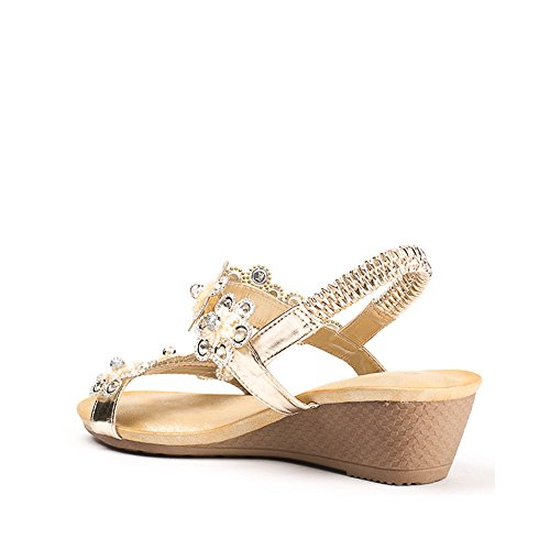 Ideal Shoes ,  Sandali donna Oro
