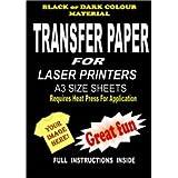 Láser Y Copiadora Para Imprimir Camiseta & Tejido Papel Transfer Para Telas Oscuras 5 A3 Hojas