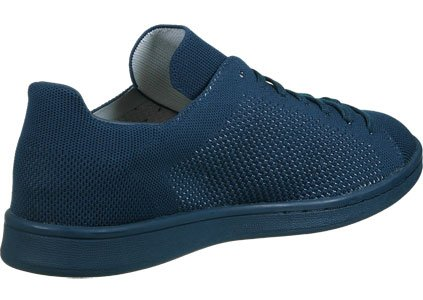 Adidas Originals Shoes - Adidas Originals Stan Smith Prime Knit Shoes - Tech Steel Blue Blau