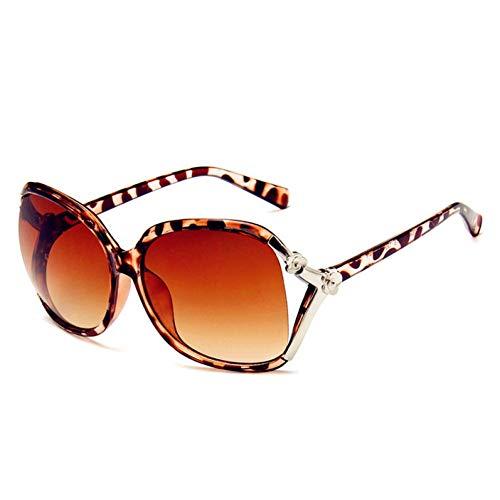 Zbertx Stilvolle Vintage Runde Sonnenbrille Frauen Männer Uv400 Farbe Verspiegelte Beschichtung Sonnenbrille Retro Hipster Brille,Leopardenmuster