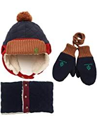 Mutter & Kinder Baby Jungen Kinder Spiderman Hüte Handschuh Schal Set Cartoon Winter Gestrickte Kappen