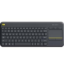 Logitech K400 Plus RF sans fil AZERTY Belge Noir clavier - claviers (RF sans fil, Universel, AZERTY, Français, Sans fil, Universel)