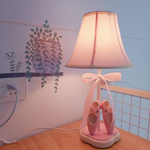 Lámpara de mesita de noche princesa rosa, paño de niña, zapatos de ...